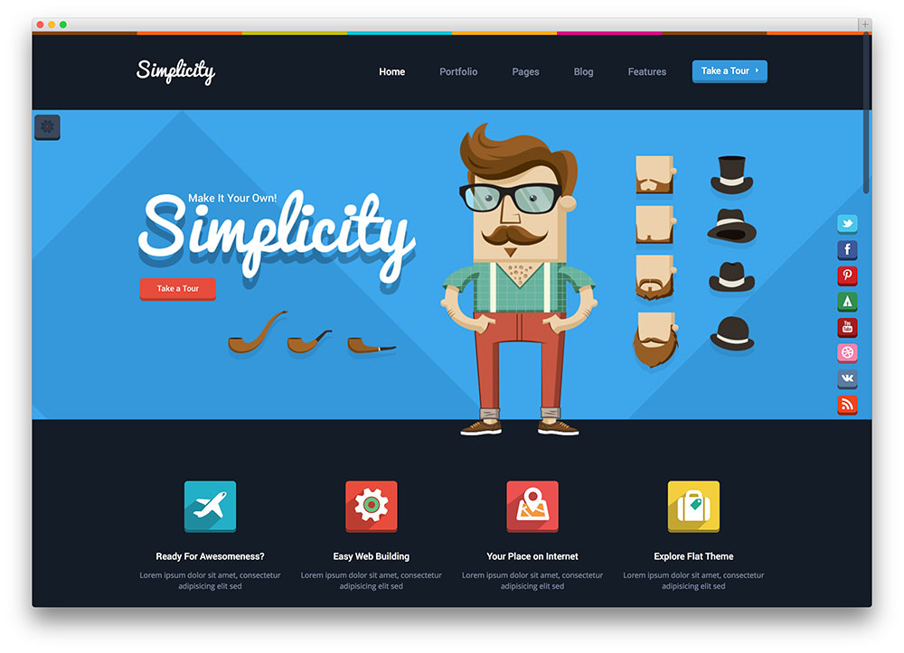 simplicity-flat-wordpress-template